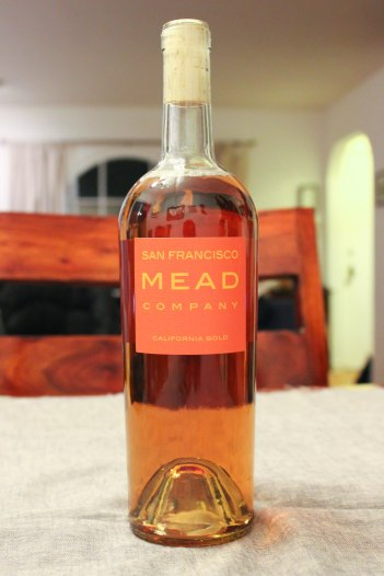 A fine bottle of California Gold Mead from SF Mead